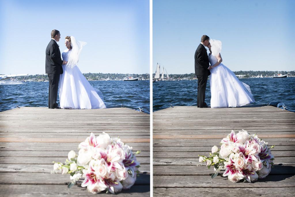 Portraits on Dock Whidbey Island Wedding Photography