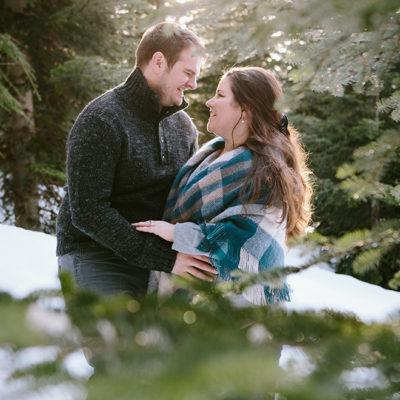 Snoqualmie Pass Winter Engagement Photographer