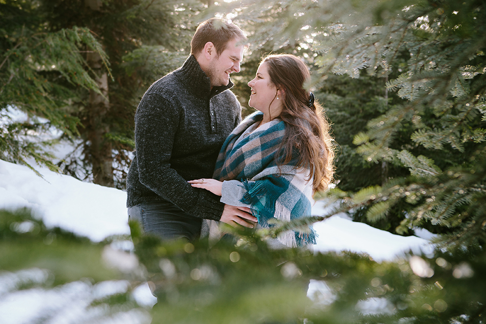 Snoqualmie Pass Winter Engagement Photographer