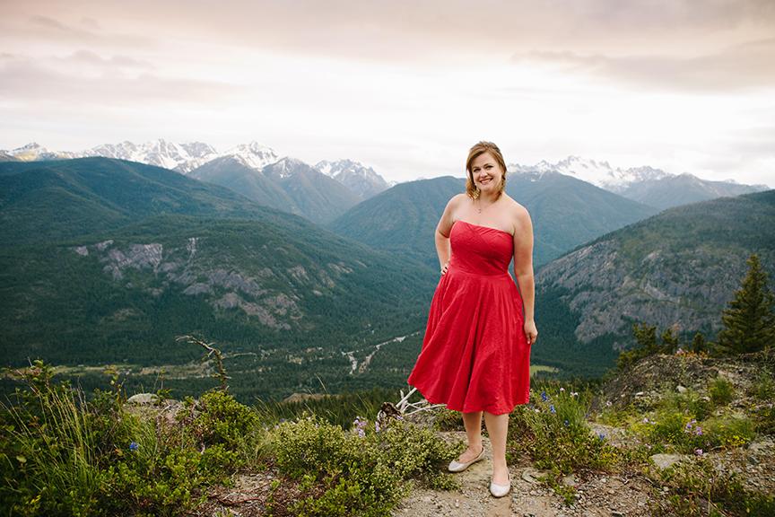 bride on mountain