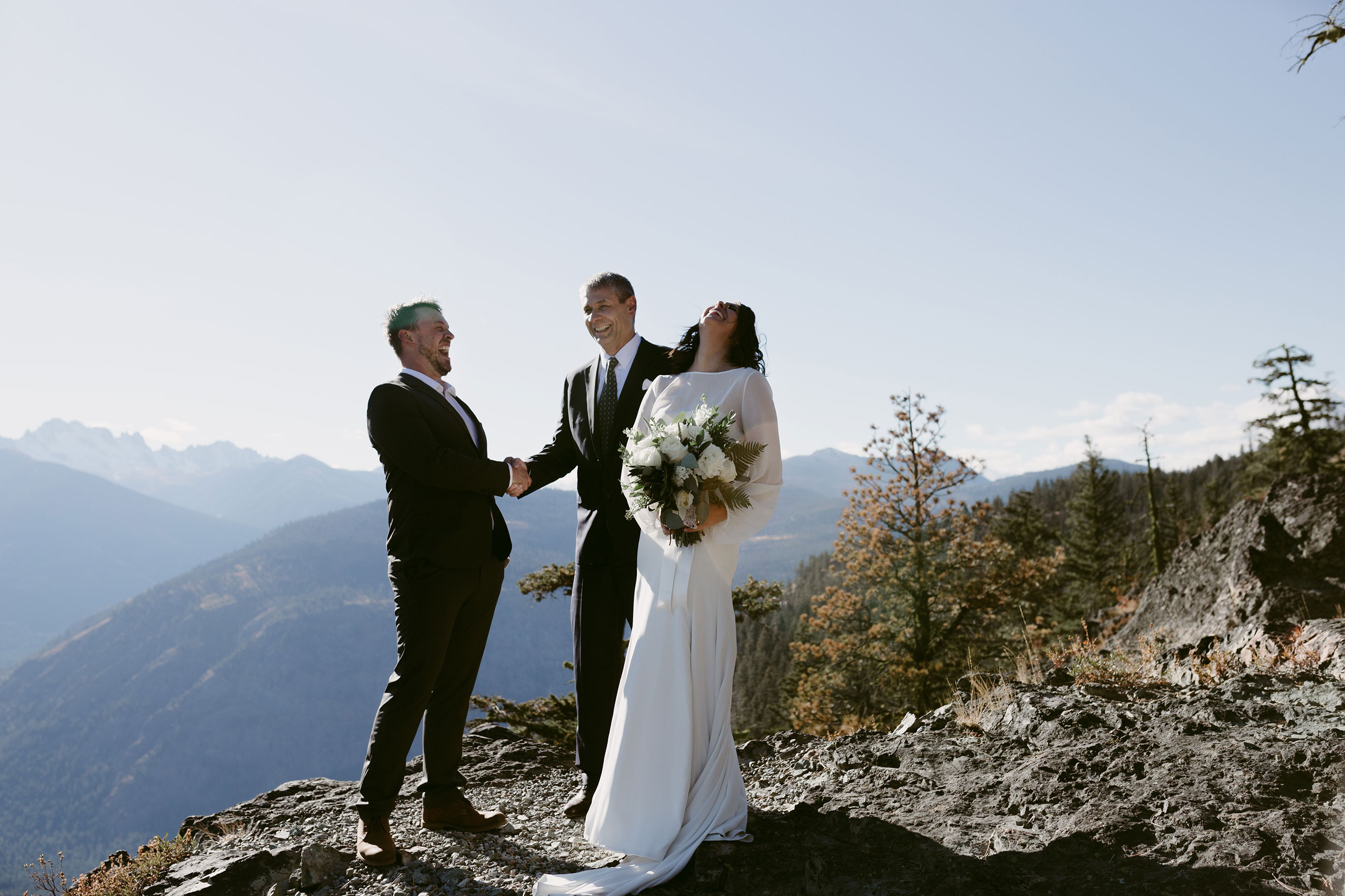 Intimate Mountain Elopement Methow Valley