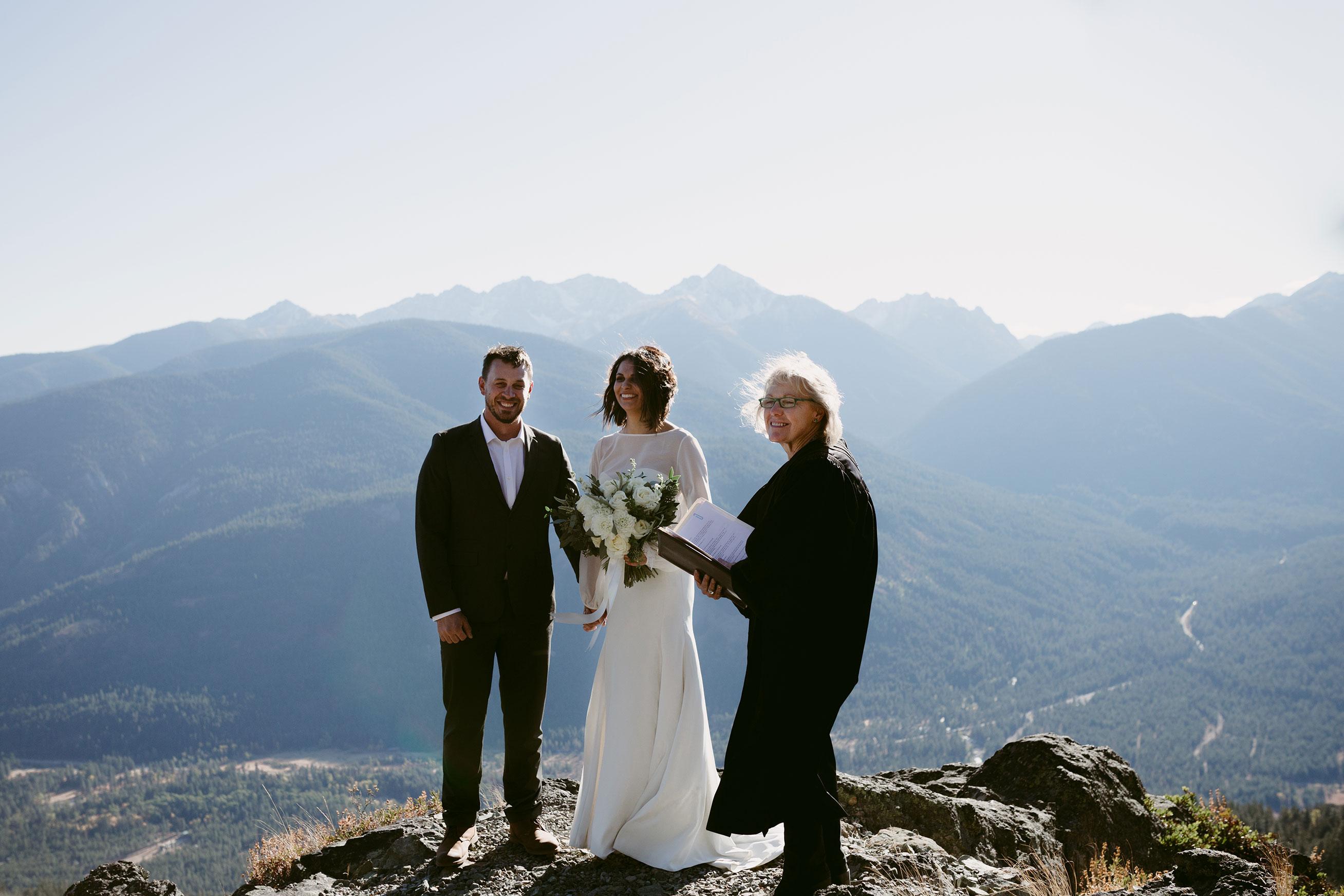 Intimate Mountain Elopement Goat Peak