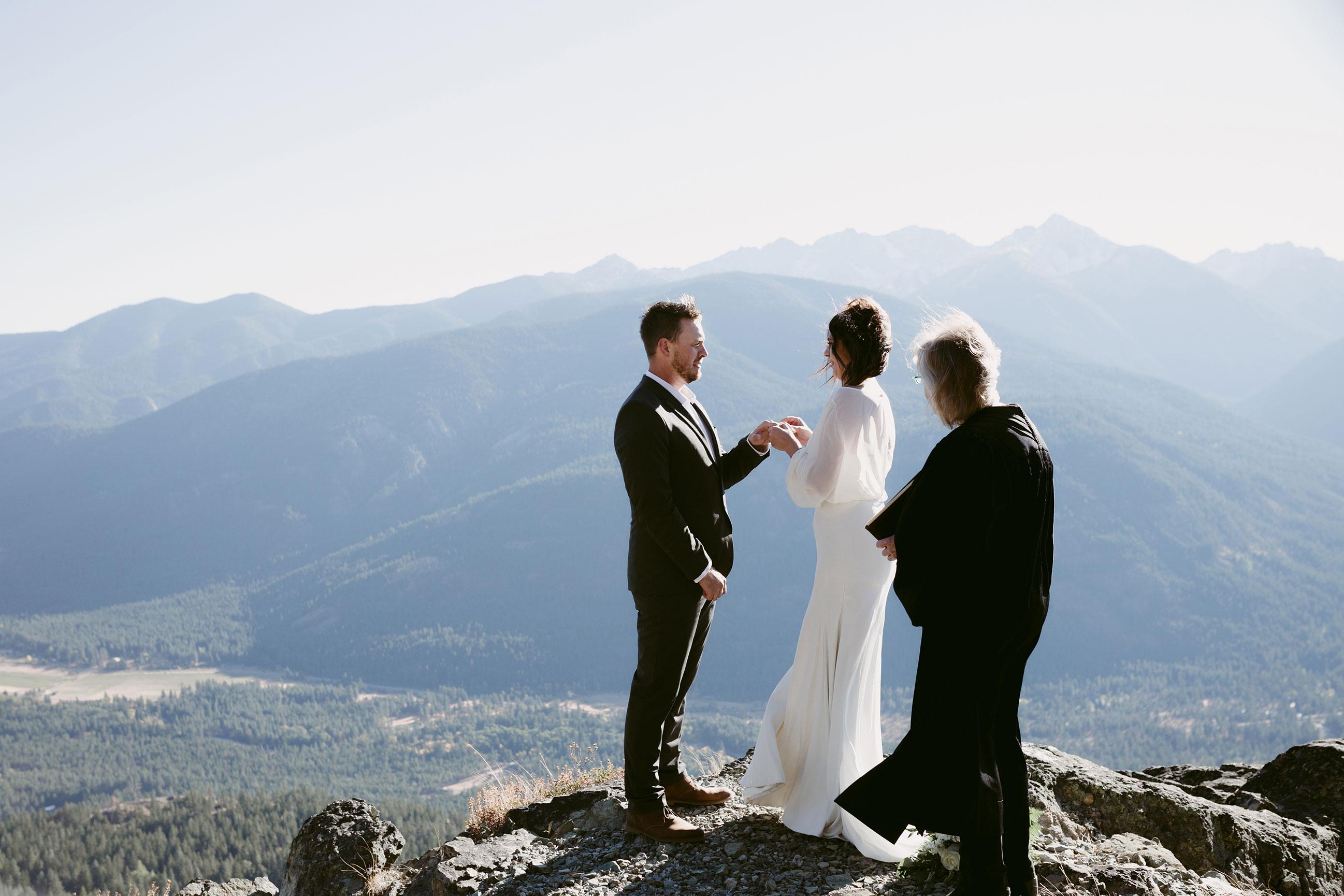 Mountain top elopement
