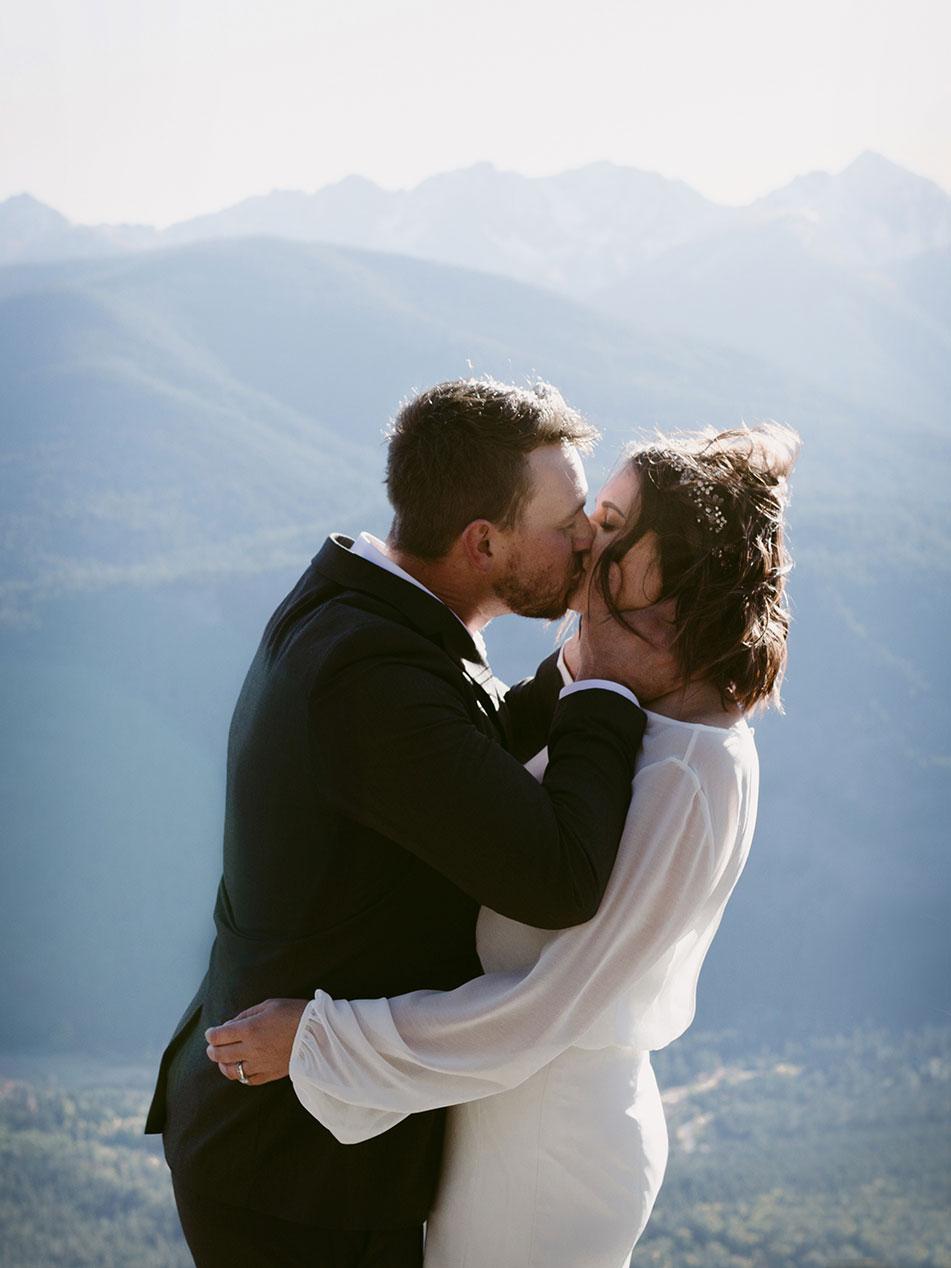 First Kiss Mountain Elopement