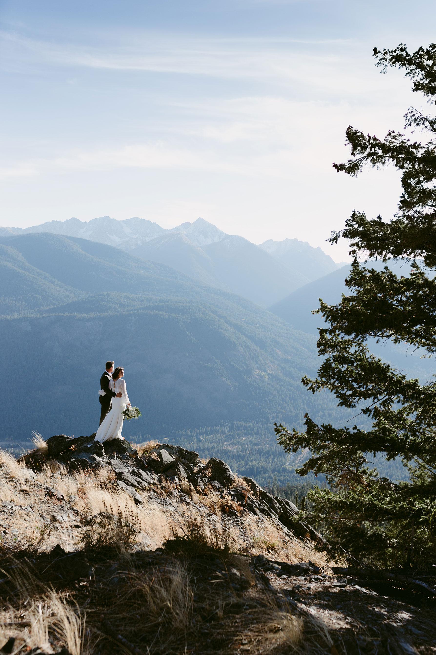 Mountain elopement Methow Valley