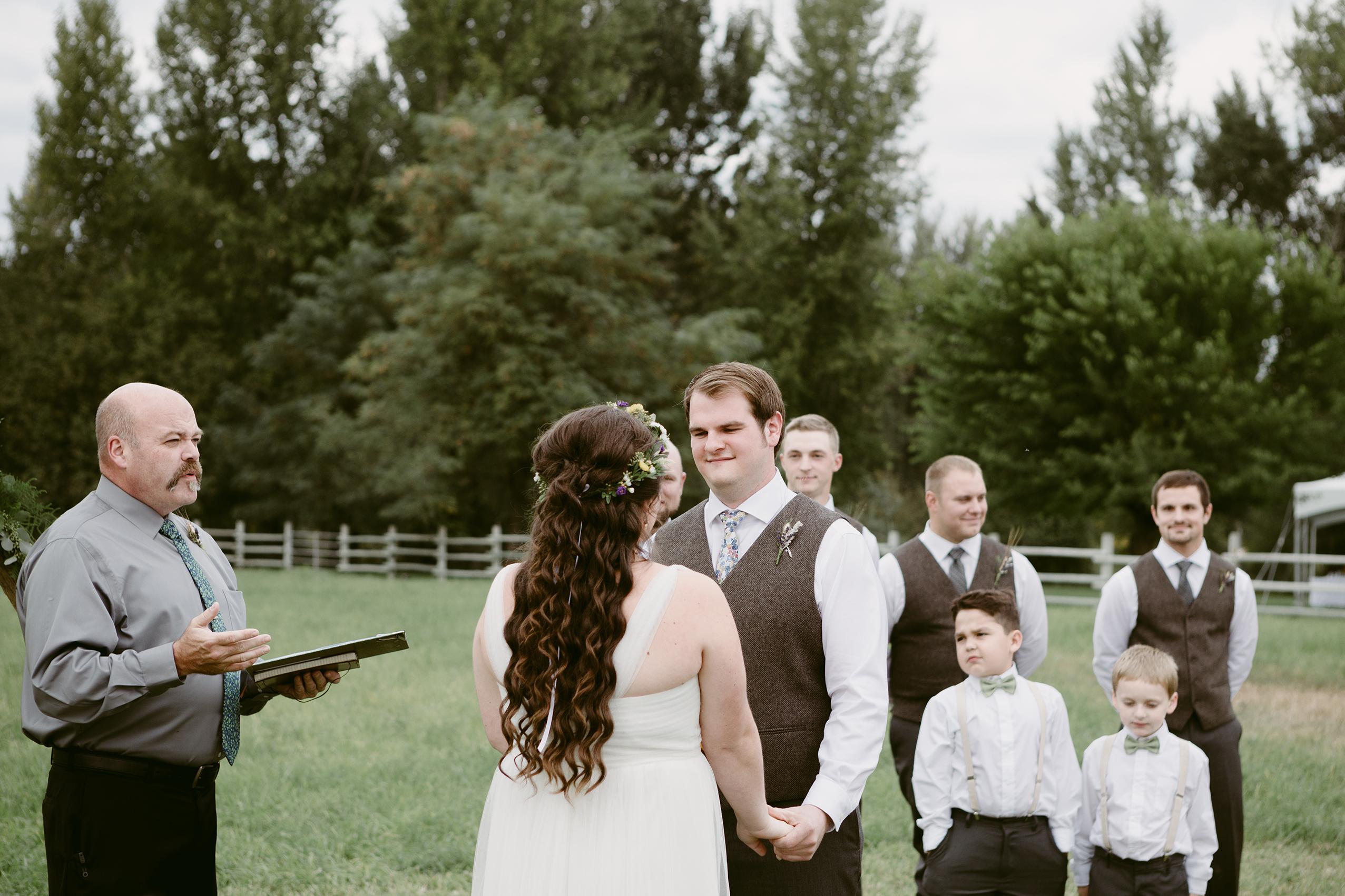 Wedding Ceremony Spring Creek Ranch Winthrop Wa