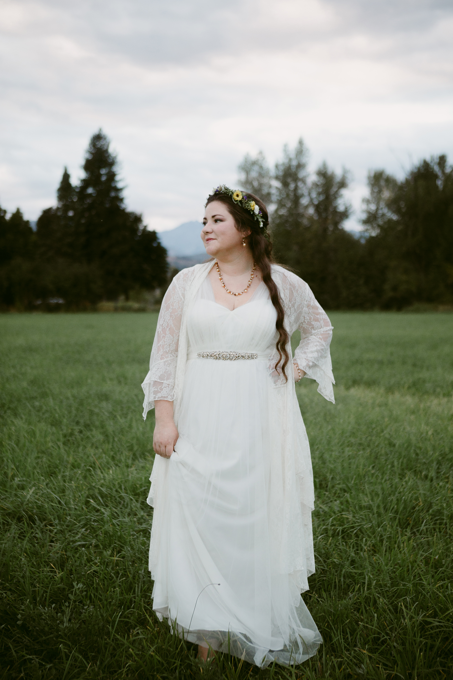 Sunset bride portraits Spring Creek Ranch Winthrop wa