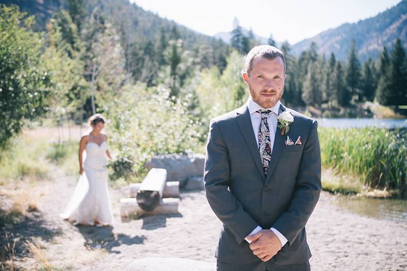 First Look Methow Valley Wedding