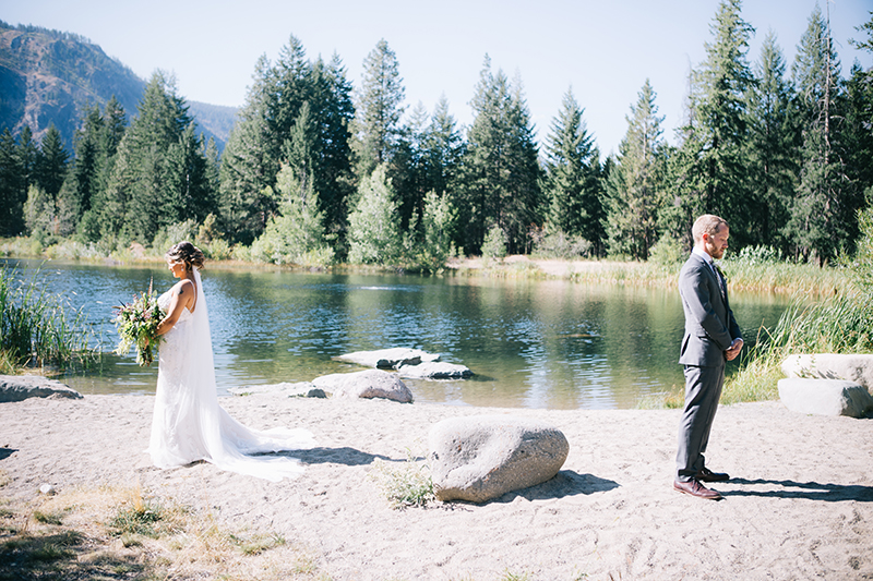 First Look Freestone Inn Wedding