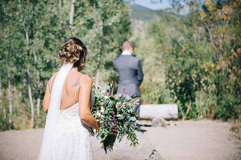First Look Freestone Inn Wedding Mazama