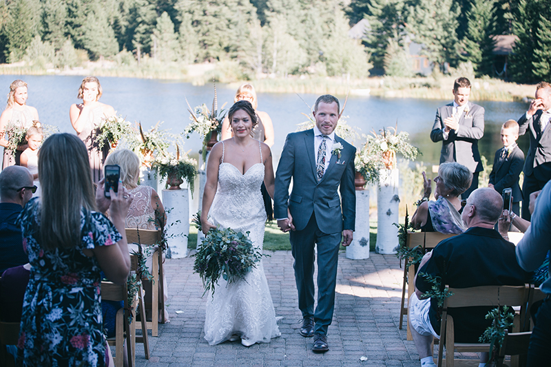 Outdoor Summer Wedding Ceremony Freestone Inn