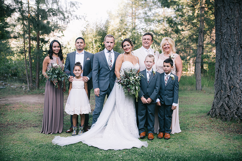 Brides Family Outdoor wedding