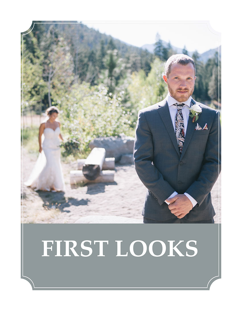 First Look Wedding Tip