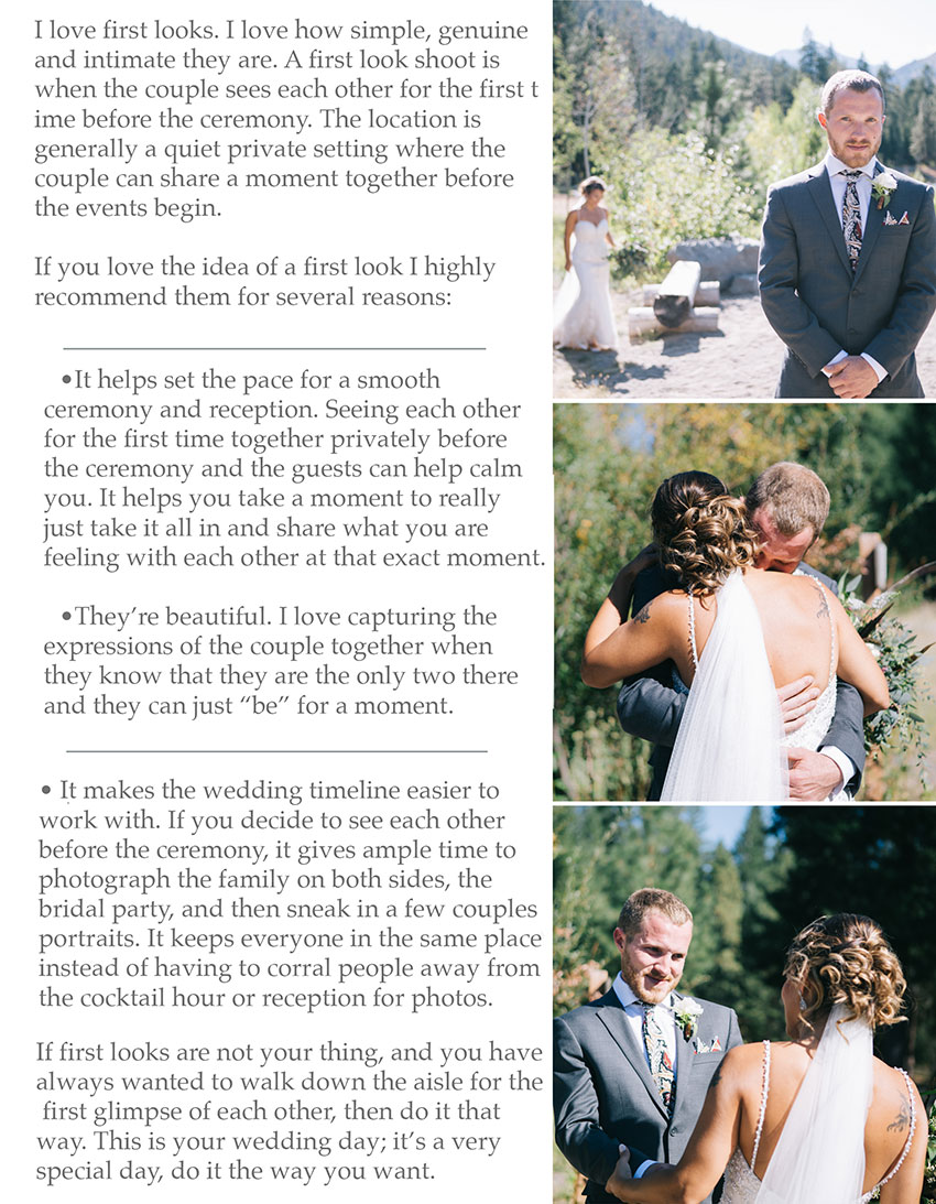 Guide to First Looks at Weddings