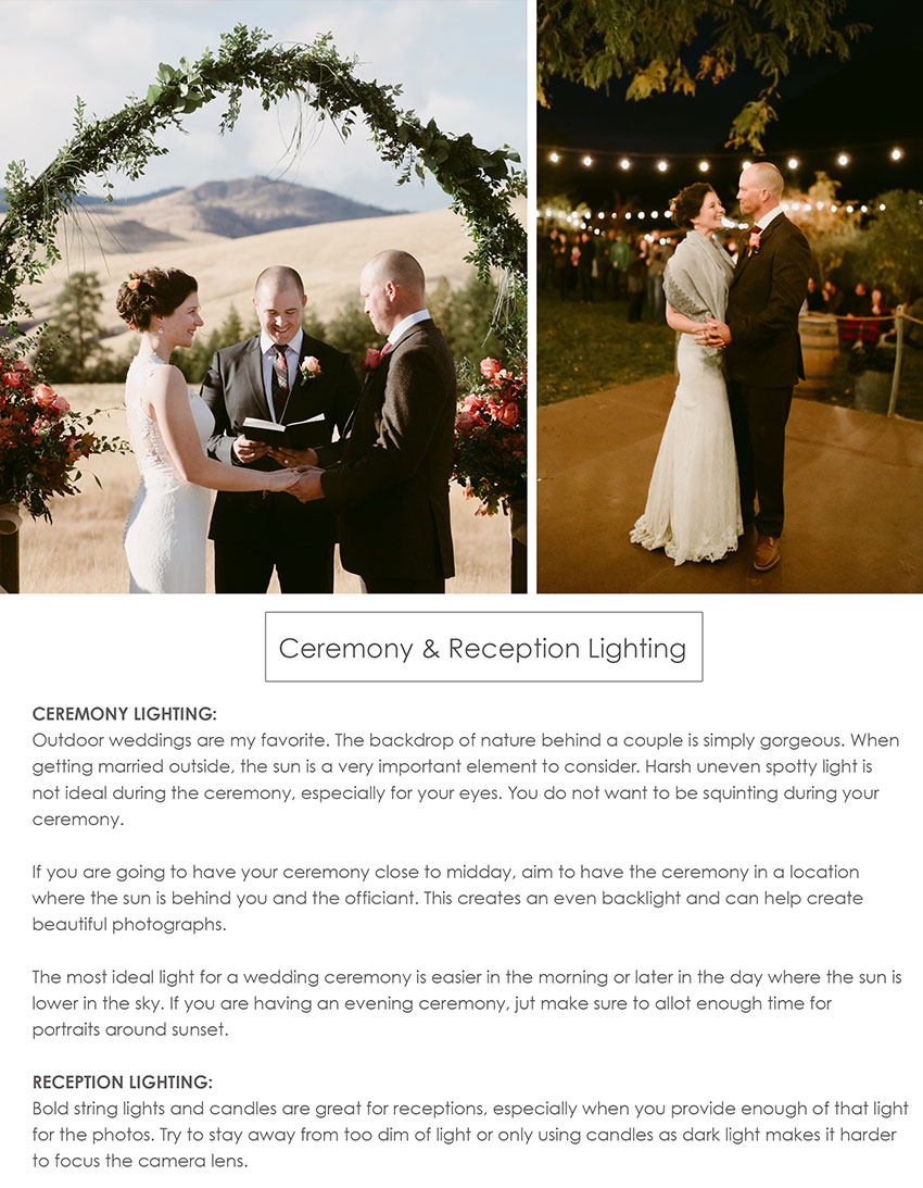 Wedding Planning Guide for Ceremony