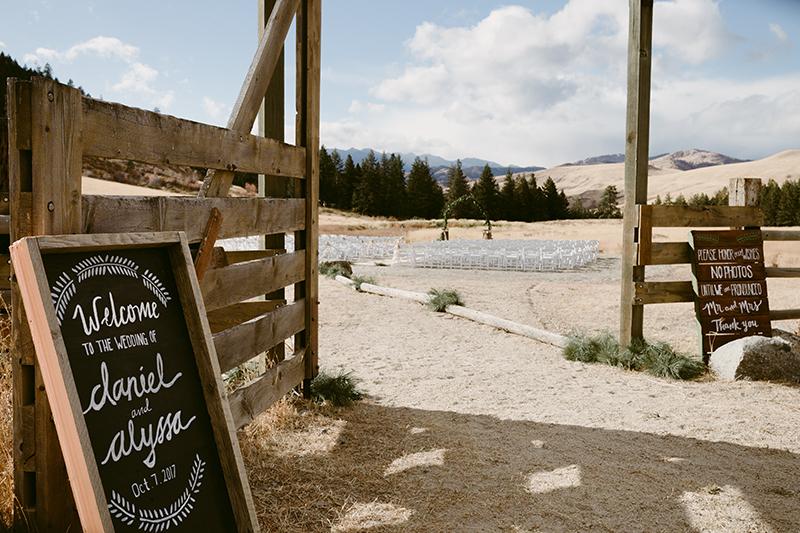 Mountain ranch wedding winthrop wa