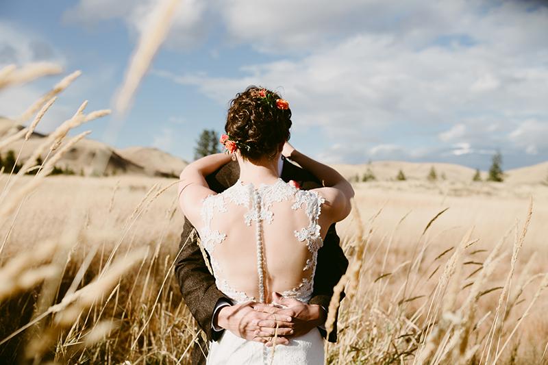 Back of brides dress winthrop wa