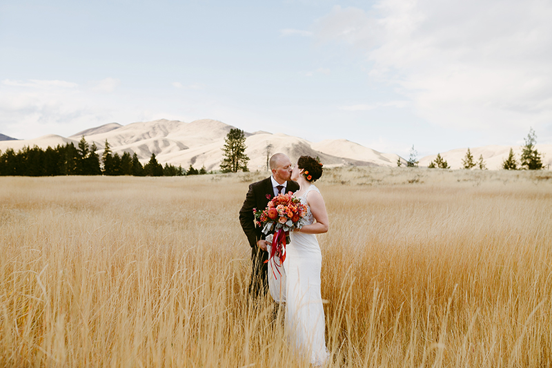 Fall wedding in the methow valley
