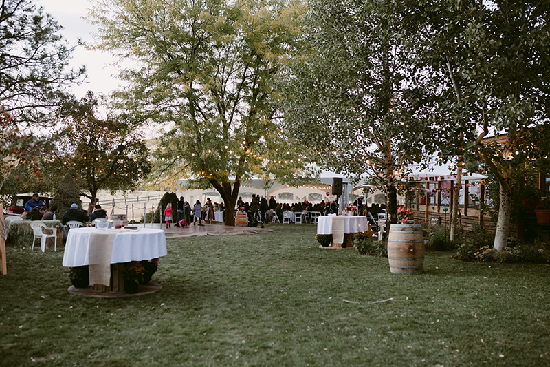Backyard wedding winthrop wa
