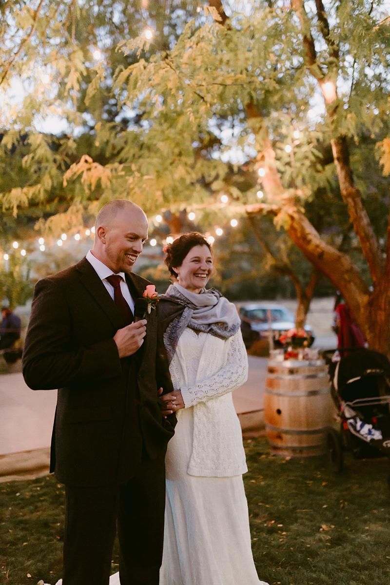 Backyard Wedding toasts winthrop wa