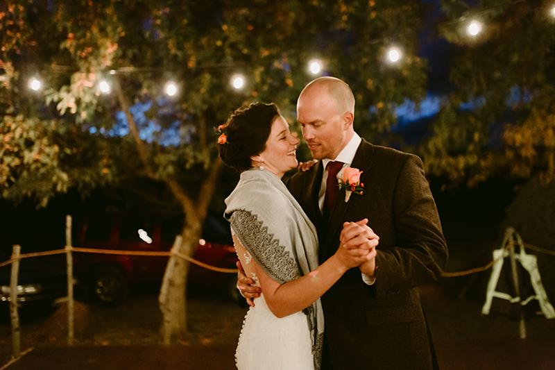 Bride and groom First Dance winthrop wa